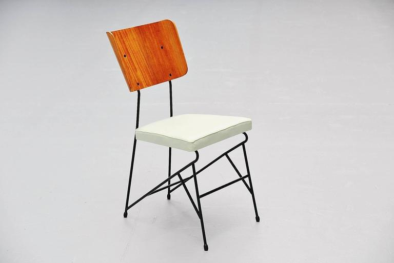 Carlo Ratti Dining Chairs for Legni Curva, Italy, 1950 6