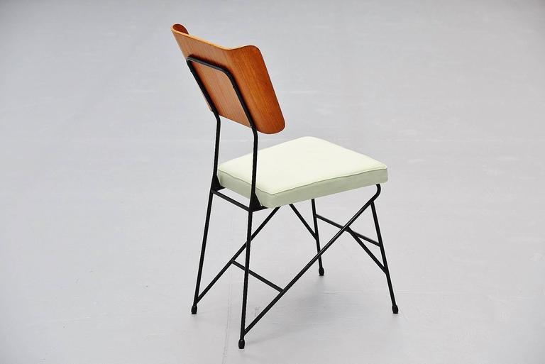 Carlo Ratti Dining Chairs for Legni Curva, Italy, 1950 8