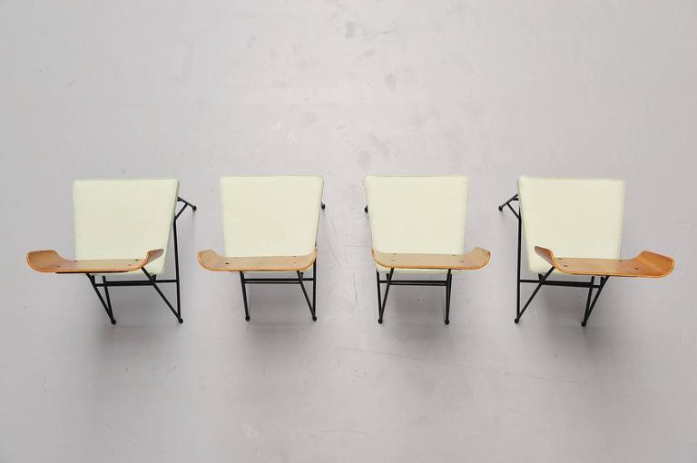 Carlo Ratti Dining Chairs for Legni Curva, Italy, 1950 4