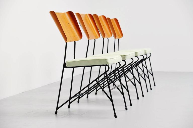 Carlo Ratti Dining Chairs for Legni Curva, Italy, 1950 2
