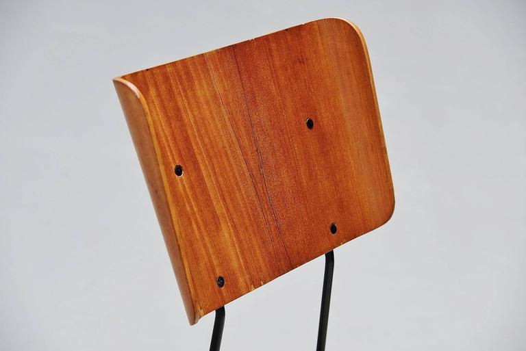 Carlo Ratti Dining Chairs for Legni Curva, Italy, 1950 7