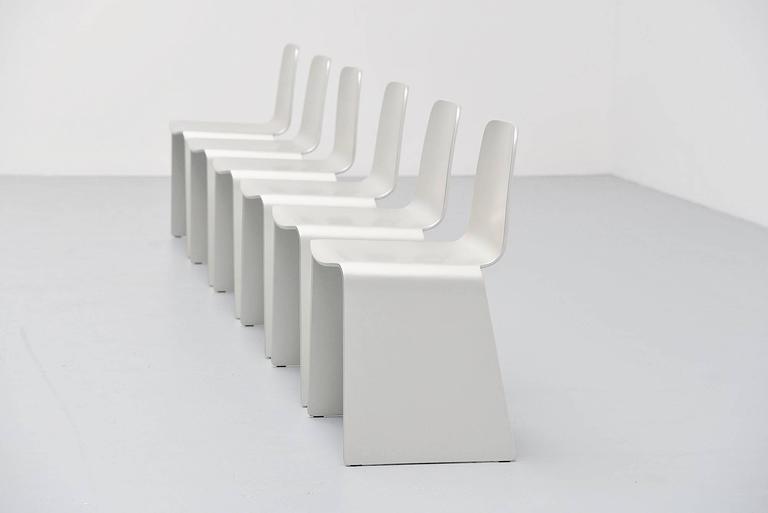 Mid-Century Modern Scott Burton Style Dining Chairs, 1990 For Sale
