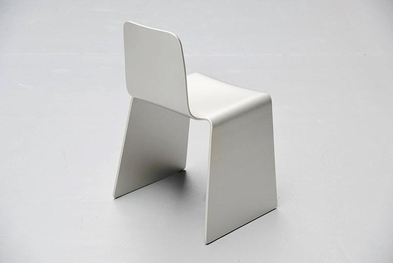 Plywood Scott Burton Style Dining Chairs, 1990 For Sale