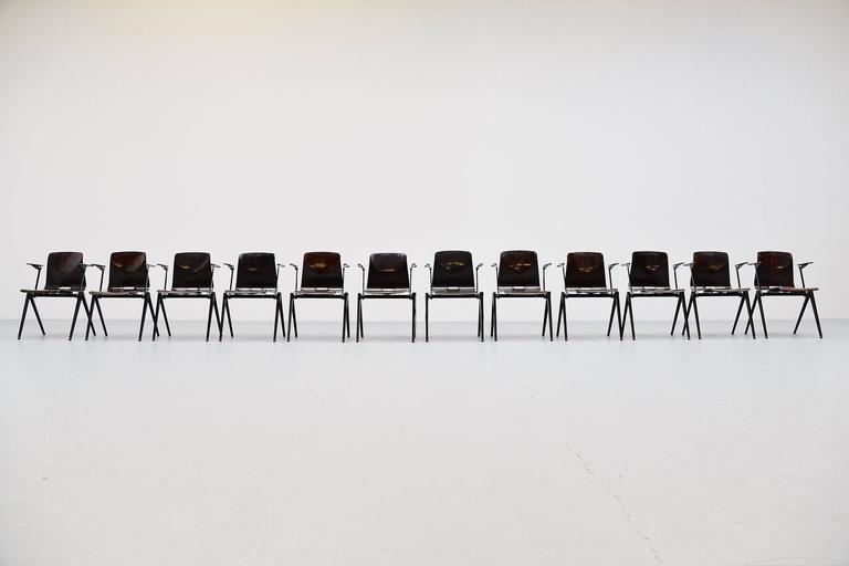 Pagholz Stacking Chairs with Arms Set of 12 Germany, 1970 2