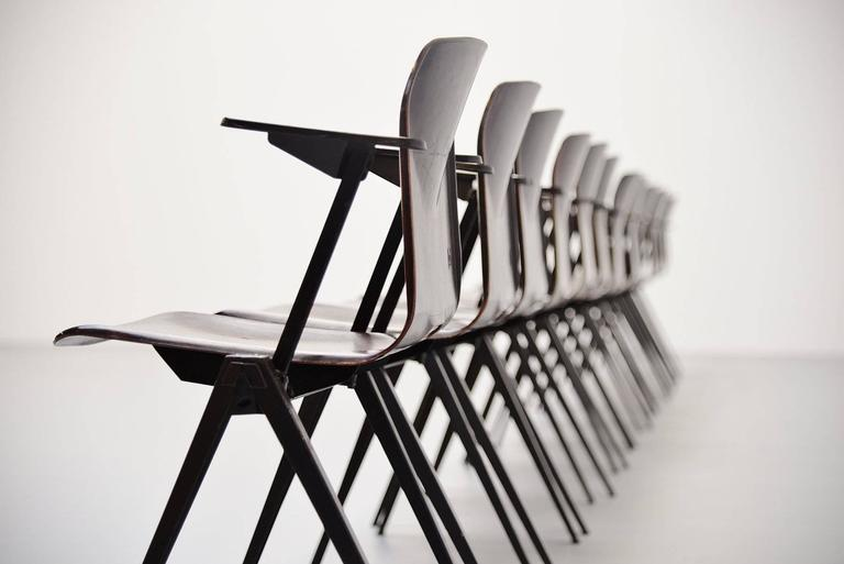 Pagholz Stacking Chairs with Arms Set of 12 Germany, 1970 3