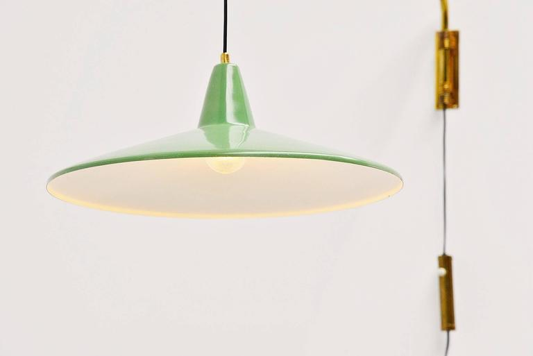 Lacquered Arredoluce Style Extendable Wall Lamp, Italy, 1950 For Sale