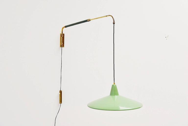 Wall Lamps Extendable : Arredoluce Style Extendable Wall Lamp, Italy, 1950 For Sale at 1stdibs