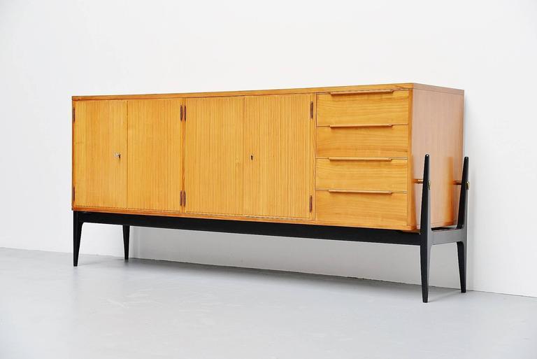 Painted De Coene Sideboard Alfred Hendrickx Style, Belgium, 1950 For Sale