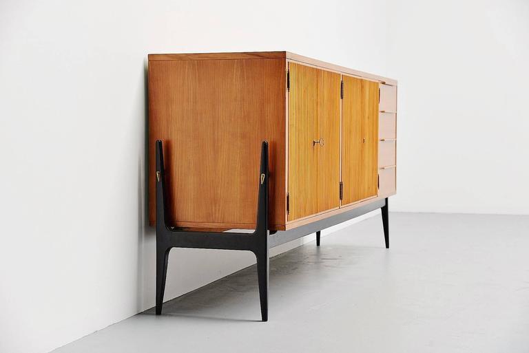 Mid-20th Century De Coene Sideboard Alfred Hendrickx Style, Belgium, 1950 For Sale