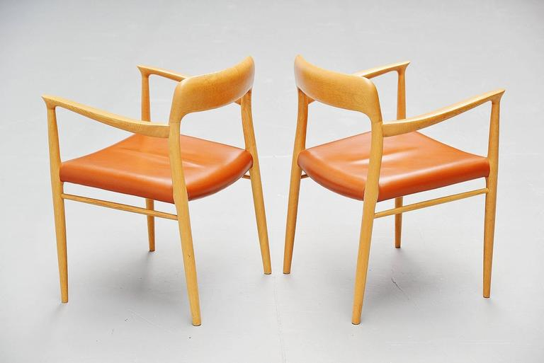 Scandinavian Modern Niels Moller Model 56 Armchairs, Denmark, 1954 For Sale