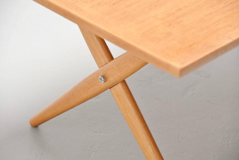 Hans Wegner AT-303 Sawhorse Table Andreas Tuck, Denmark, 1955 In Excellent Condition For Sale In Roosendaal, Noord Brabant