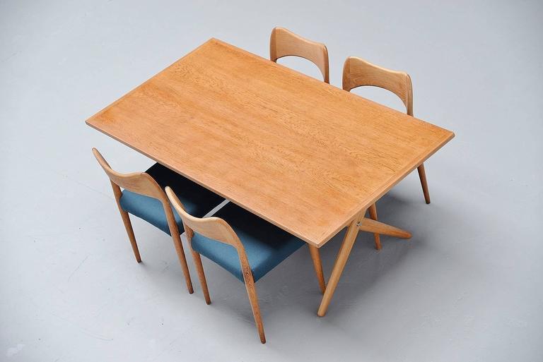 Hans Wegner AT-303 Sawhorse Table Andreas Tuck, Denmark, 1955 For Sale 2