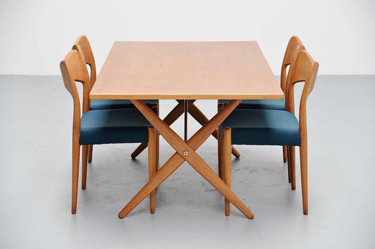 Hans Wegner AT-303 Sawhorse Table Andreas Tuck, Denmark, 1955 For Sale 1