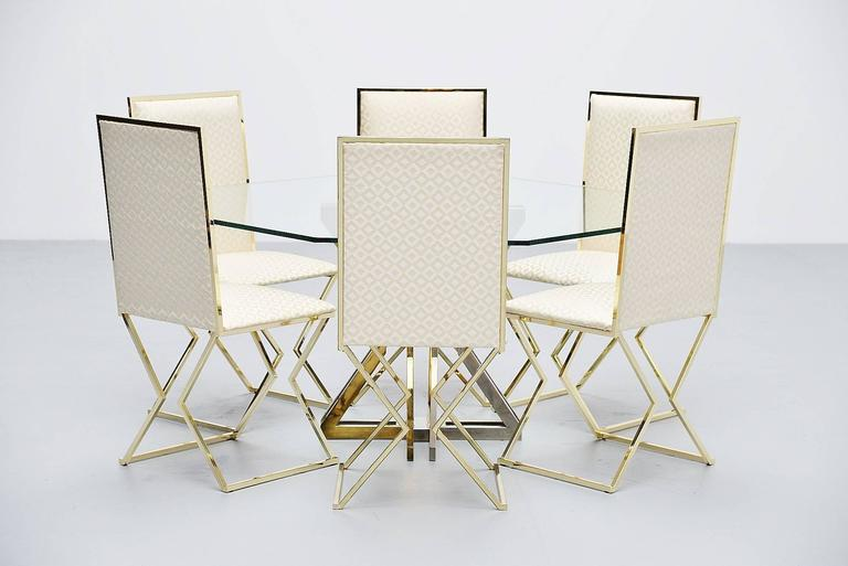 Romeo Rega Dining Chairs with Graphic Upholstery, Italy, 1970 7