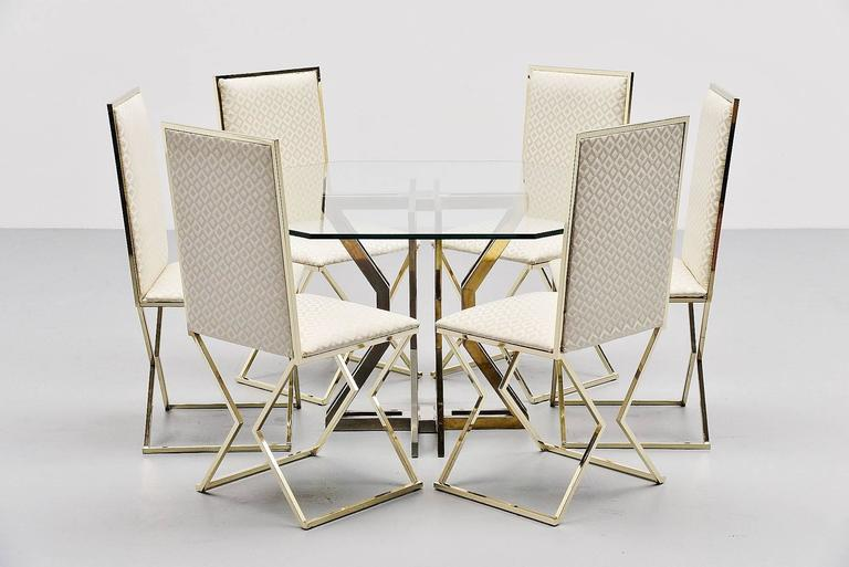 Romeo Rega Dining Chairs with Graphic Upholstery, Italy, 1970 8