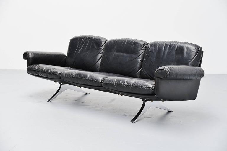 Mid-Century Modern De Sede DS31 Sofa Three-Seat, Switzerland, 1970 For Sale