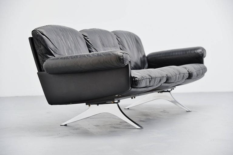 Plated De Sede DS31 Sofa Three-Seat, Switzerland, 1970 For Sale