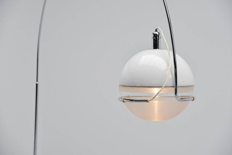 Mid-Century Modern Fabio Lenci Guzzini Focus Floor Lamp, Italy, 1972 For Sale