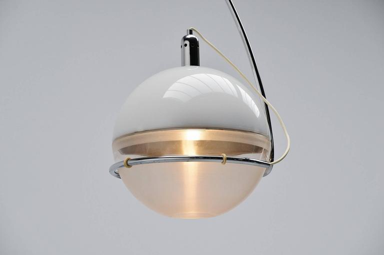 Plastic Fabio Lenci Guzzini Focus Floor Lamp, Italy, 1972 For Sale