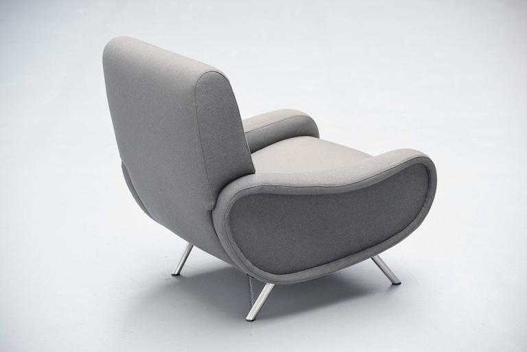 Upholstery Marco Zanuso Lady Chair Arflex, Italy, 1951 For Sale