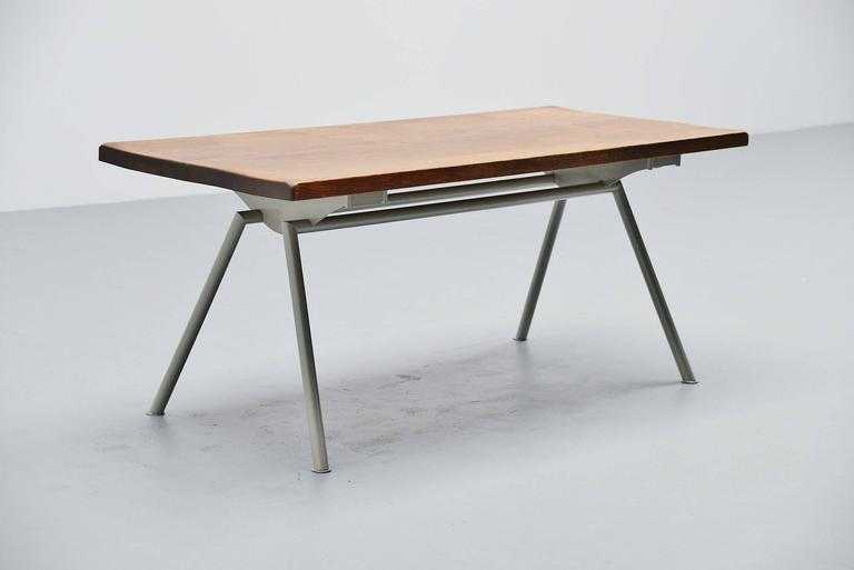 French Industrial Dining Table Prouve Perriand Style, France, 1960 For Sale