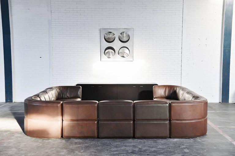 ds15 de sede modular sofa xxl switzerland 1970 at 1stdibs. Black Bedroom Furniture Sets. Home Design Ideas