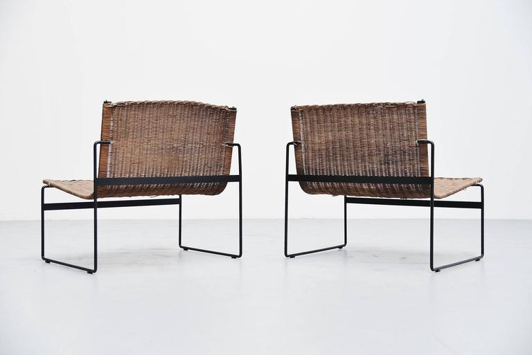 gregorio vicente cortes pair of lounge chairs metz and co 1961 at 1stdibs. Black Bedroom Furniture Sets. Home Design Ideas