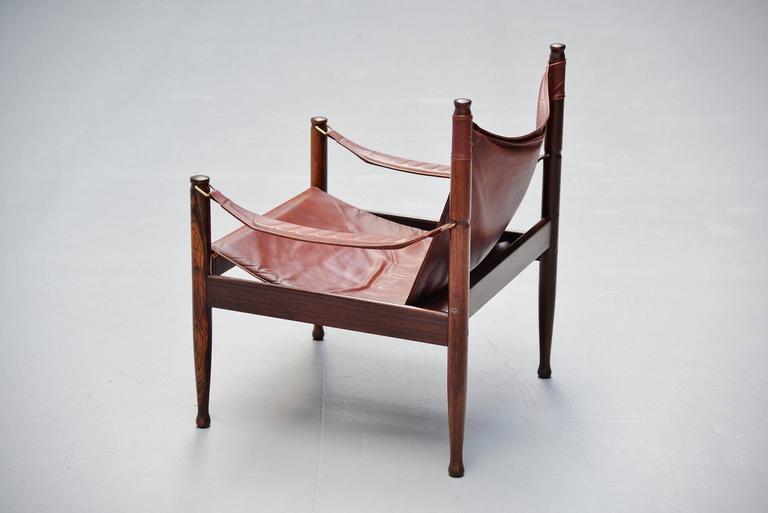 Erik Worts Safari Chair for Niels Eilersen, Denmark, 1960 7
