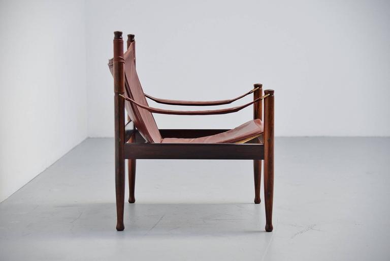 Erik Worts Safari Chair for Niels Eilersen, Denmark, 1960 3