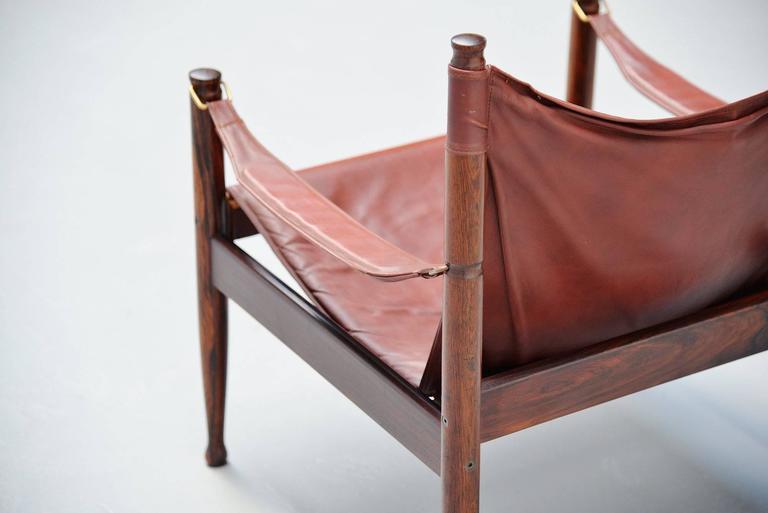 Erik Worts Safari Chair for Niels Eilersen, Denmark, 1960 8