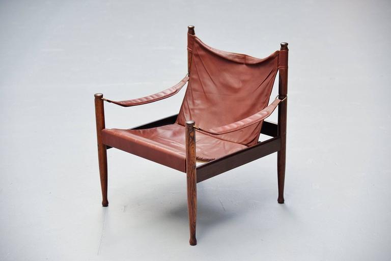 Erik Worts Safari Chair for Niels Eilersen, Denmark, 1960 4