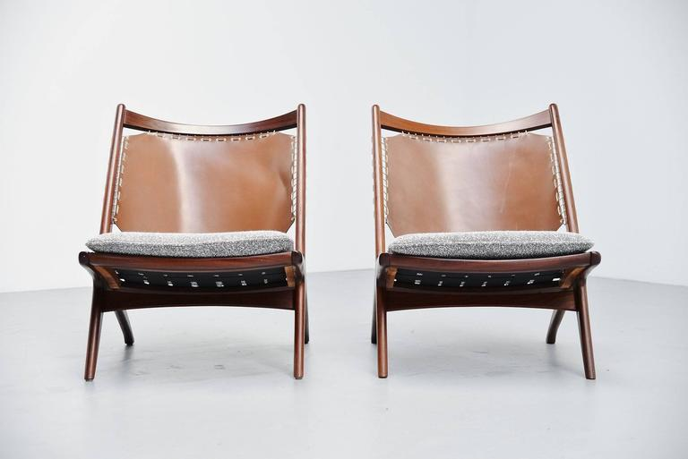 Norwegian Frederik Kayser Krysset Chairs, Gustav Bahus, Norway, 1955 For Sale