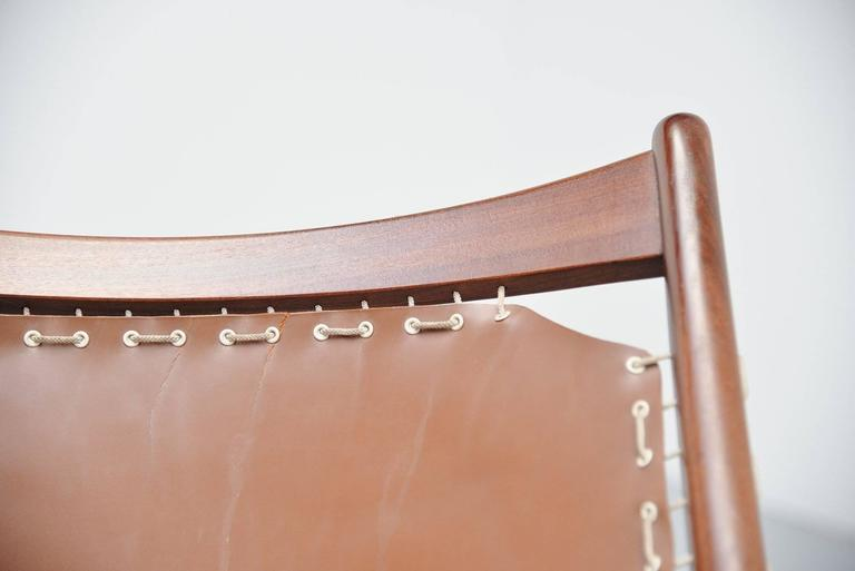 Frederik Kayser Krysset Chairs, Gustav Bahus, Norway, 1955 In Excellent Condition For Sale In Roosendaal, Noord Brabant