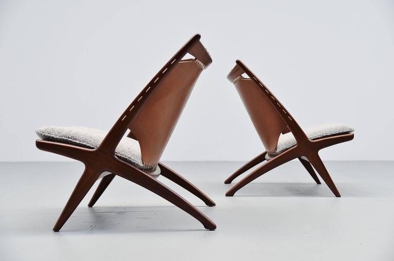Frederik Kayser Krysset Chairs, Gustav Bahus, Norway, 1955 For Sale 2
