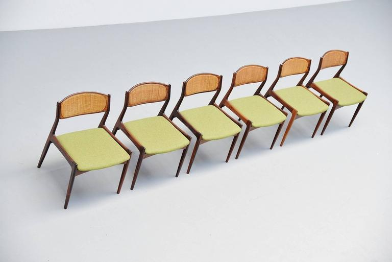 Ib Kofod Larsen Chairs by Christian Linneberg Denmark, 1960 In Excellent Condition For Sale In Roosendaal, Noord Brabant