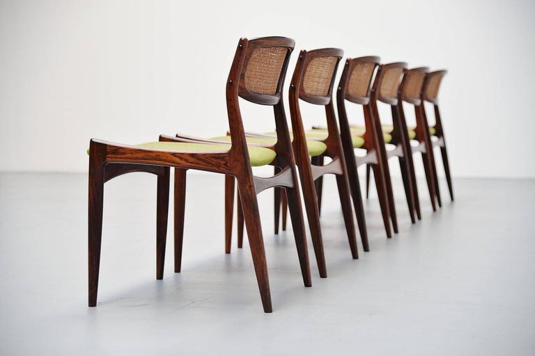 Danish Ib Kofod Larsen Chairs by Christian Linneberg Denmark, 1960 For Sale