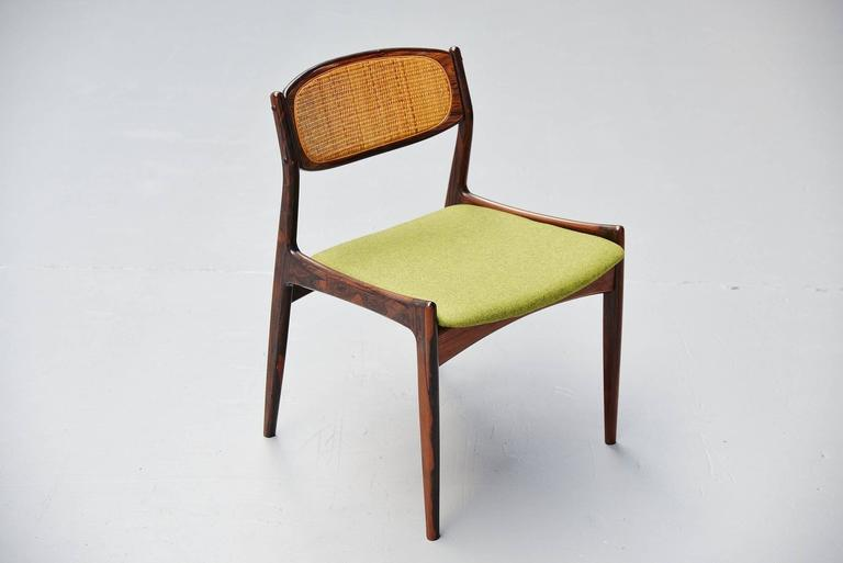 Mid-20th Century Ib Kofod Larsen Chairs by Christian Linneberg Denmark, 1960 For Sale