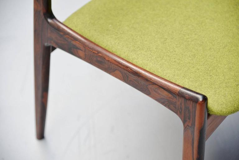 Ib Kofod Larsen Chairs by Christian Linneberg Denmark, 1960 For Sale 1
