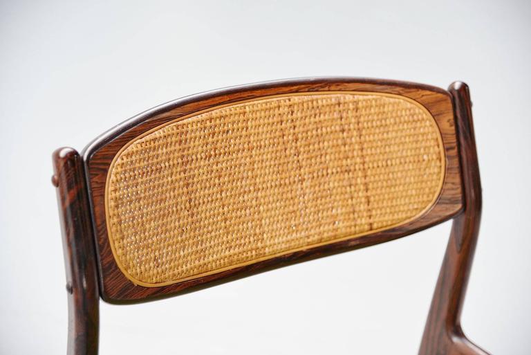 Upholstery Ib Kofod Larsen Chairs by Christian Linneberg Denmark, 1960 For Sale