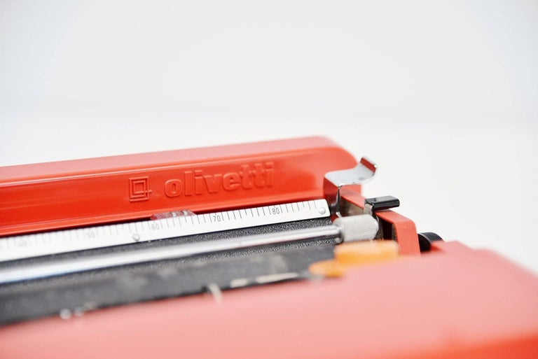 Metal Ettore Sottsass Olivetti Valentine Typewriter, Italy, 1969 For Sale