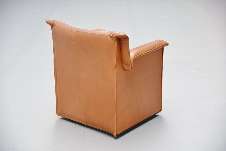 Leather Afra Tobia Scarpa Lauriana Conference Chairs B&B Italia, 1978 For Sale