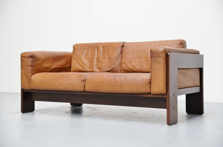 afra e tobia scarpa two seat bastiano sofa for gavina italy 1968 at 1stdibs. Black Bedroom Furniture Sets. Home Design Ideas