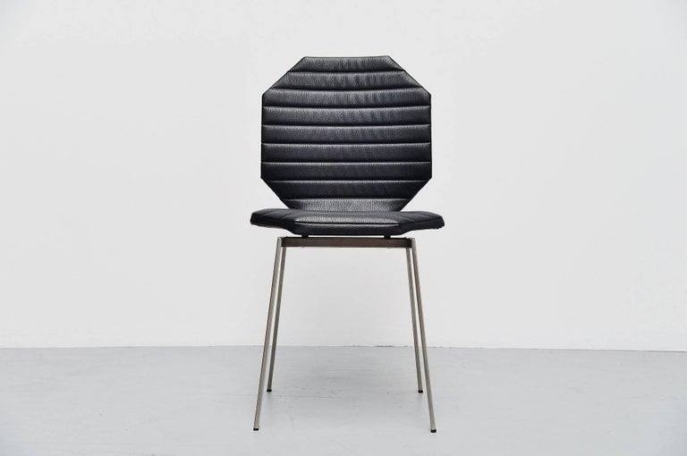 Plated Rudolf Wolf Side Chair, Holland, 1959 For Sale