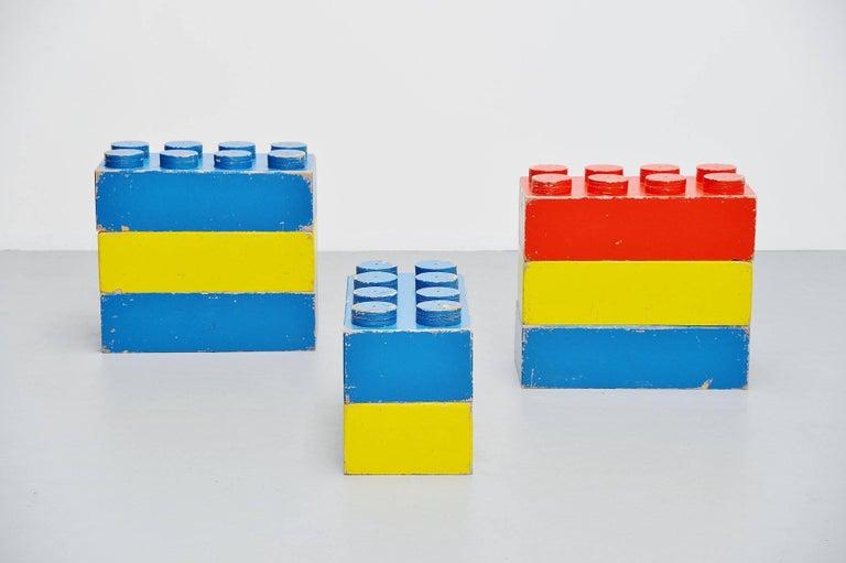 Scandinavian Modern Large Decorative Lego Cubes Holland, 1960 For Sale