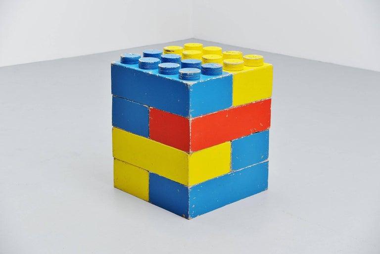 Danish Large Decorative Lego Cubes Holland, 1960 For Sale