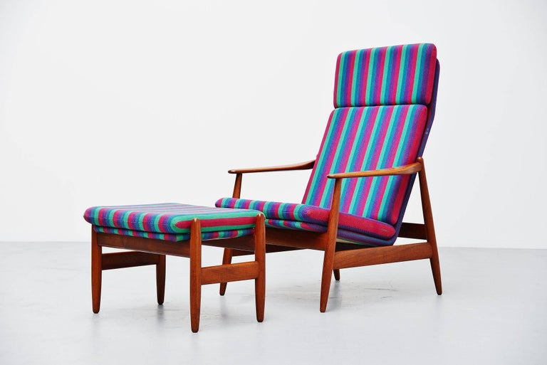 Scandinavian Modern Poul Volther Lounge Chair by Frem Røjle, Denmark, 1960 For Sale