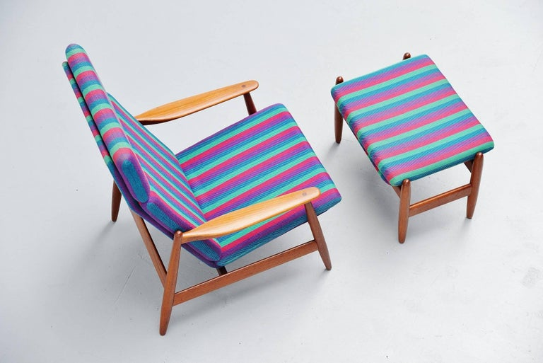 Danish Poul Volther Lounge Chair by Frem Røjle, Denmark, 1960 For Sale