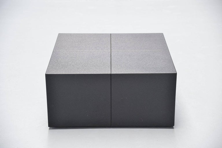 Mid-Century Modern Claire Bataille Paul Ibens Coffee Table 't Spectrum, 1973 For Sale