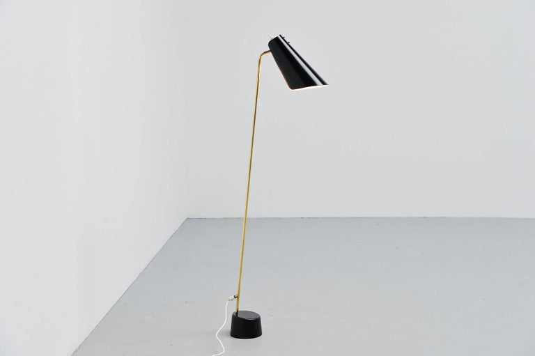 Cold-Painted ASEA Belysning Floor Lamp, Sweden, 1960 For Sale