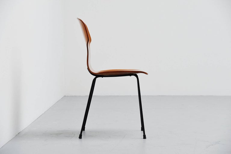 Carlo Ratti Side Chair in Plywood by Legni Curva, Italy, 1950 In Excellent Condition For Sale In Roosendaal, Noord Brabant